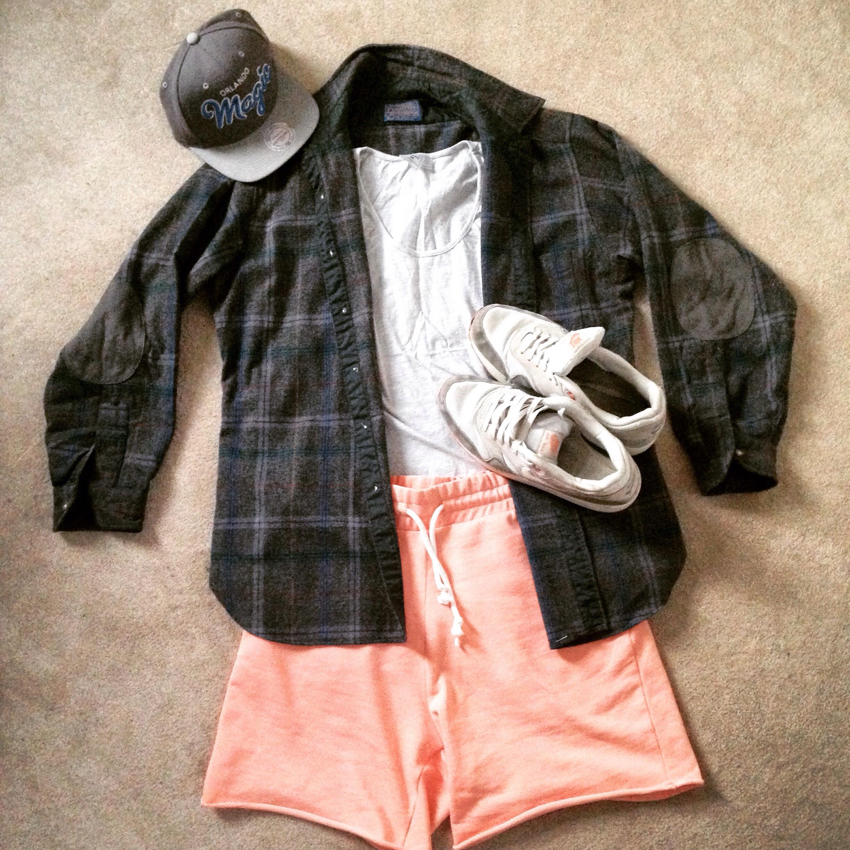 8abbad6a Flannel Shorts – H&M // Cream Vest Top – Topman // Shirt – A-Hand-Me-Down  // Nike Air Max – Foot Asylum // SnapBack – Size?