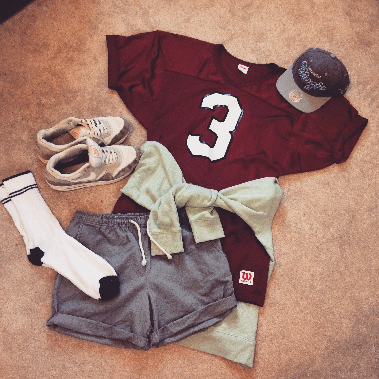 79088f01 ... Wearhouse // Mint Sweater Jumper – Tu at Sainsbury's // Chino Shorts –  Topman // Socks – Primark // Nike Air Max – Foot Asylum // SnapBack – Size?
