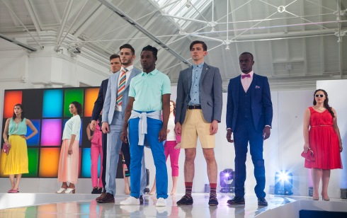 (Left to Right) Whole Outfit: Marks & Spencers, Whole Outfit: French Connection, Whole Outfit: Debenhams, Whole Outfit: Slaters