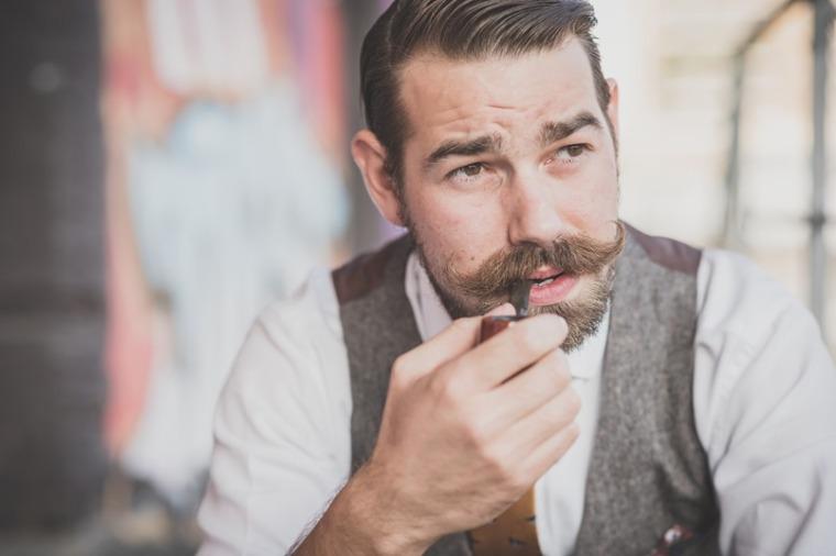 Mustache Wax Header