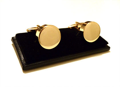 Office - Classic Gold Cufflinks