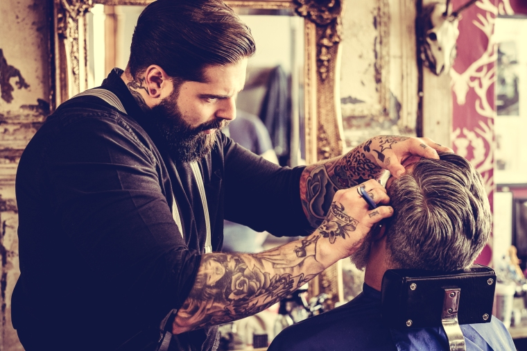 Men's hair style at the barbers