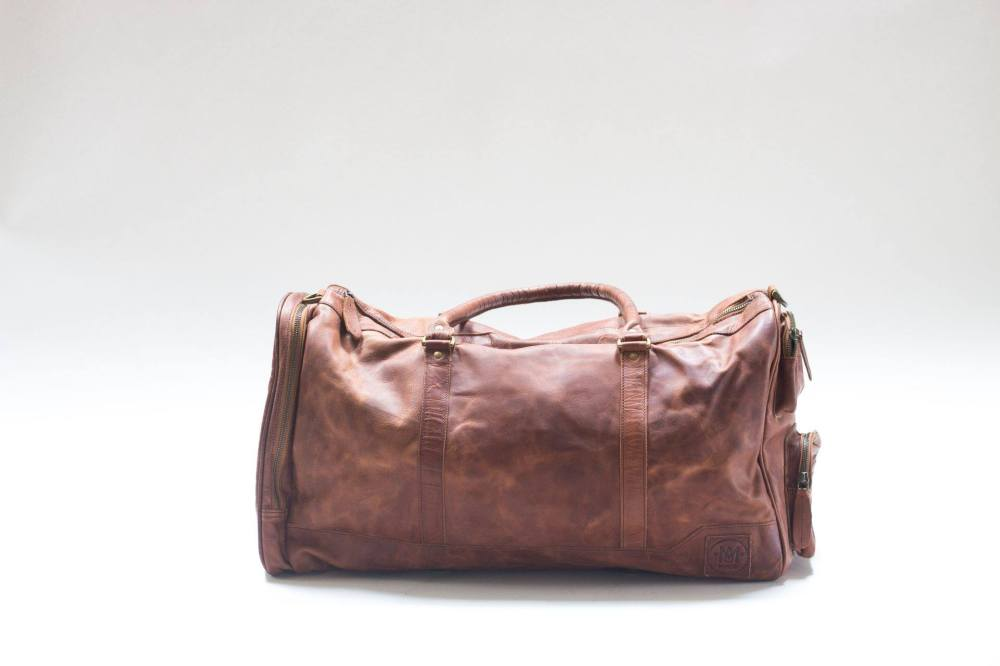 Leather bag for travel