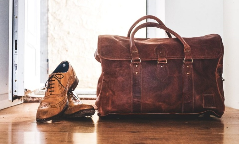 Gentleman's Leather travel bag leather brogues