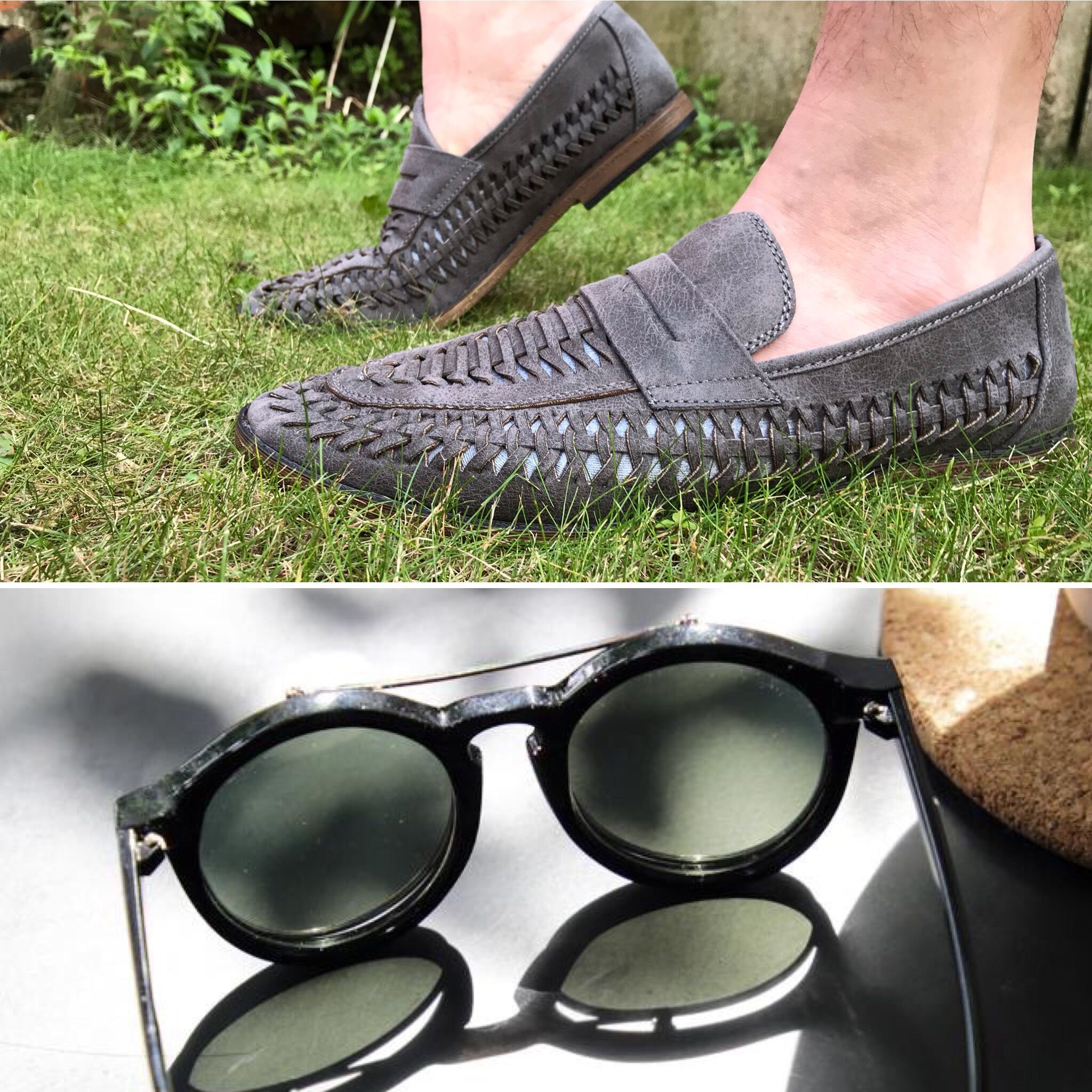 Men's summer shoes, summer shoes, wicker shoe, slip on shoes, sunglasses, menswear, men's sunglasses, intu Derby, intu Derby shopping centre, intu